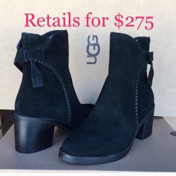 e298b407738 ❤️New Ugg Fraise Whipstitch Suede Bow boots Sz 8.5 NWT